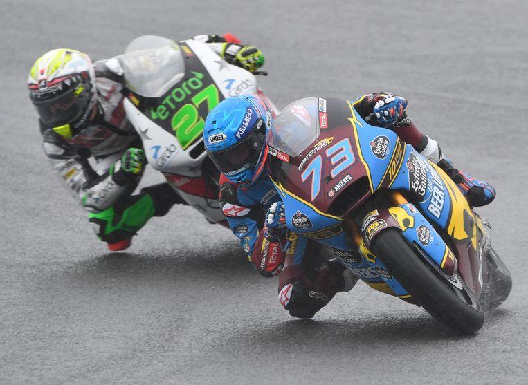 Alex Marquez ontsnapte aan een zware crash.