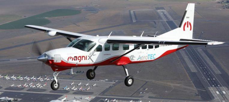 Het elektrische Cessna-vliegtuig.