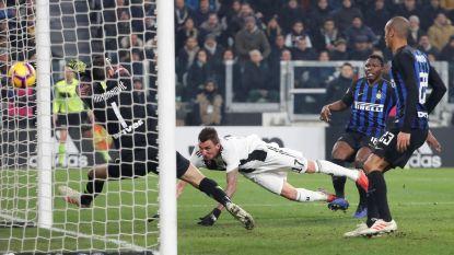 Mandzukic schenkt Juventus de zege in topper tegen Inter dat het zonder Nainggolan moest stellen