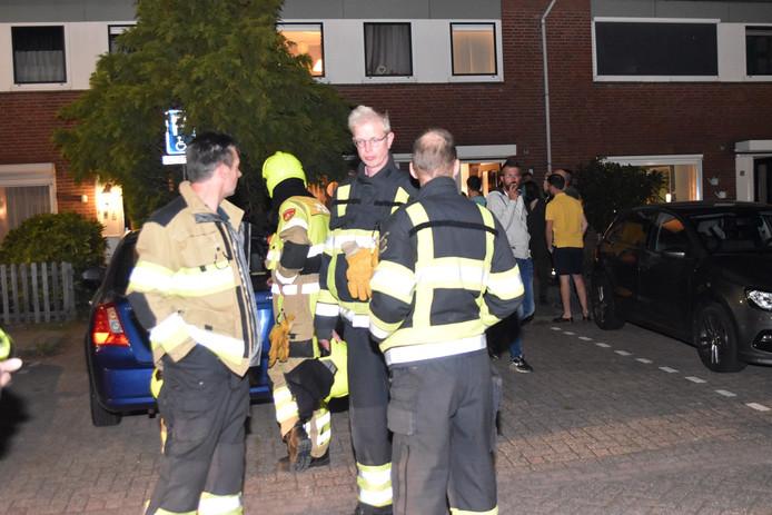 De brandweer Brakel  aan De Boogerd in Zuilichem.