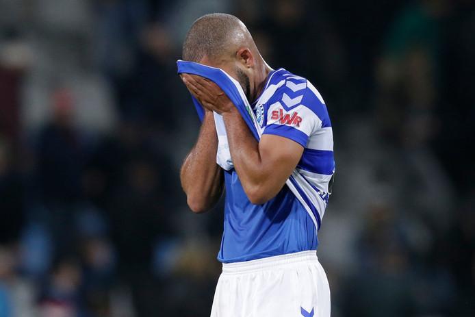 Gregor Breinburg, hier in het shirt van De Graafschap, heeft met Aruba met 2-0 verloren van Jamaica.
