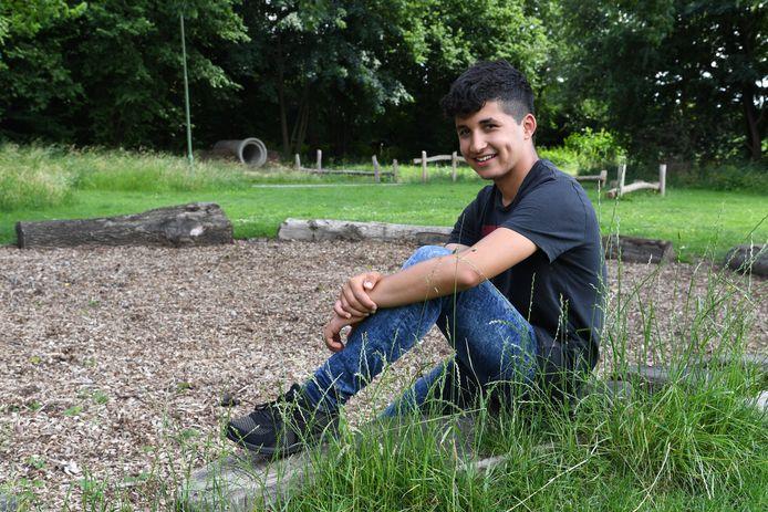 Nehad Alsheikh Hamo (16) komt graag in het Hanse Bos.