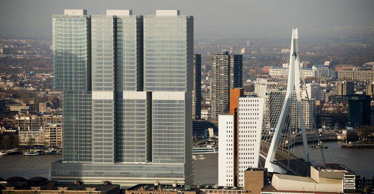 Luchtfoto van De Rotterdam. Beeld anp