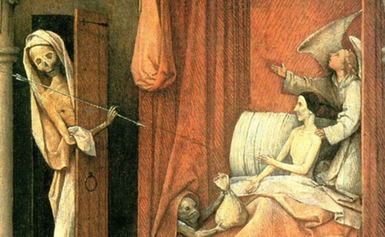 Fragment uit 'De dood van de vrek', Jheronimus Bosch Beeld TR BEELD
