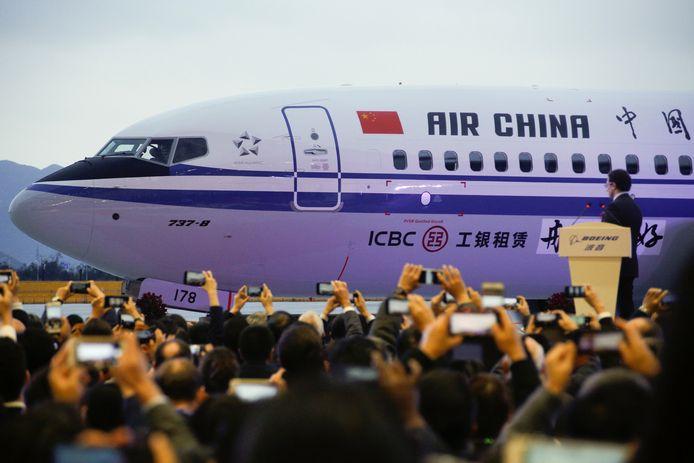 De eerste Boeing 737 Max van Air China wordt in december gepresenteerd.