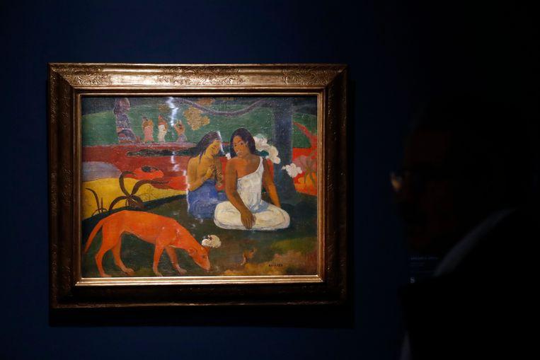 Scène de Tahiti van Paul Gauguin Beeld null
