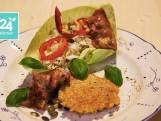 Salade van witte kool met krokante kip