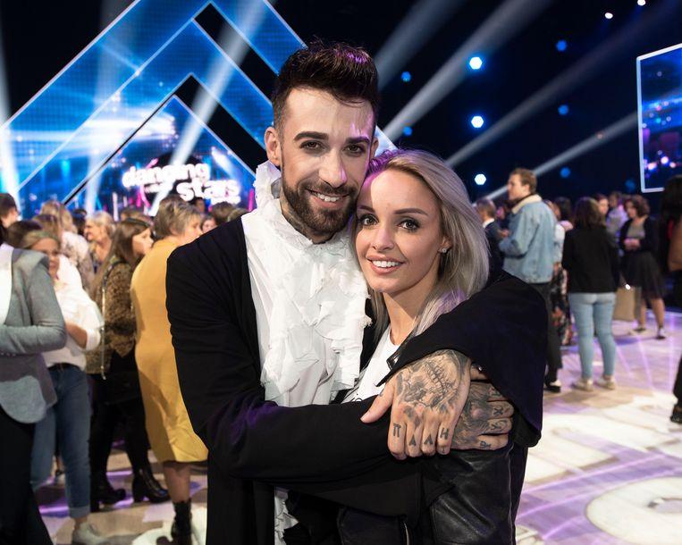 Pommeline en partner Fabrizio tijdens zijn deelname aan 'Dancing With The Stars'd
