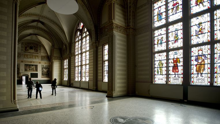 Een lege hal in het Rijksmuseum dat klaar is om ingericht te worden. Beeld ANP