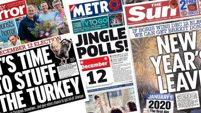 """""""New Years Leave"""" en """"Tijd om de kalkoen te vullen"""": Britse koppenmakers kunnen hun geluk niet op met kerst-verkiezingen"""
