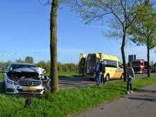Inzittenden van auto gewond na botsing met boom in Elst