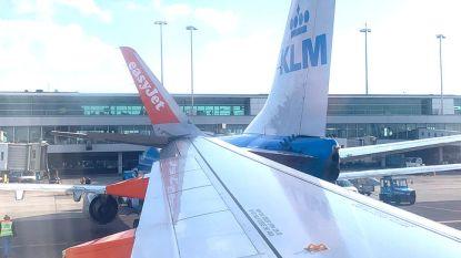 Twee vliegtuigen botsen bij taxiën op Schiphol