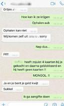 Een WhatsApp-gesprek tussen Borsato-fan en oplichter.