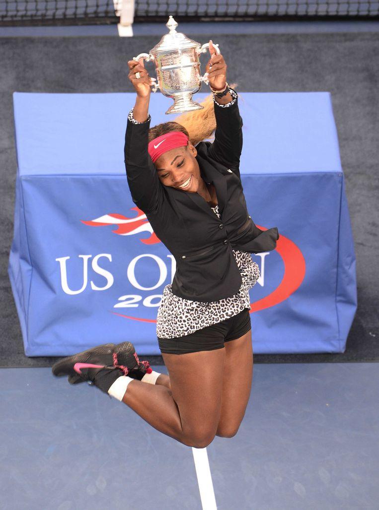 Serena won haar - voorlopig - laatste titel in New York door in de finale Caroline Wozniacki te verslaan.