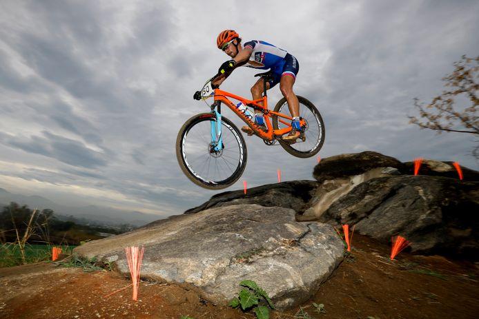 Peter Sagan avait participé à la course olympique à Rio, il est toujours aussi à l'aise sur un VTT.