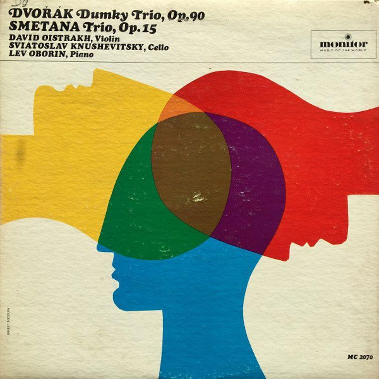 Antonin Dvorák:  Dumky trio, ontwerp lp-hoes door Ernest Socolov, 1965. Beeld