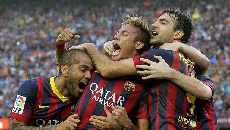 Neymar na de 1-0 Beeld epa