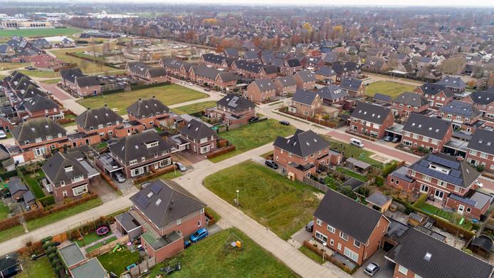 Wijk De Slagen in Staphorst wordt de komende tijd met veertig woningen uitgebreid.