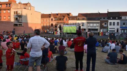 Alle EK-matchen van Rode Duivels op groot scherm op Groentemarkt