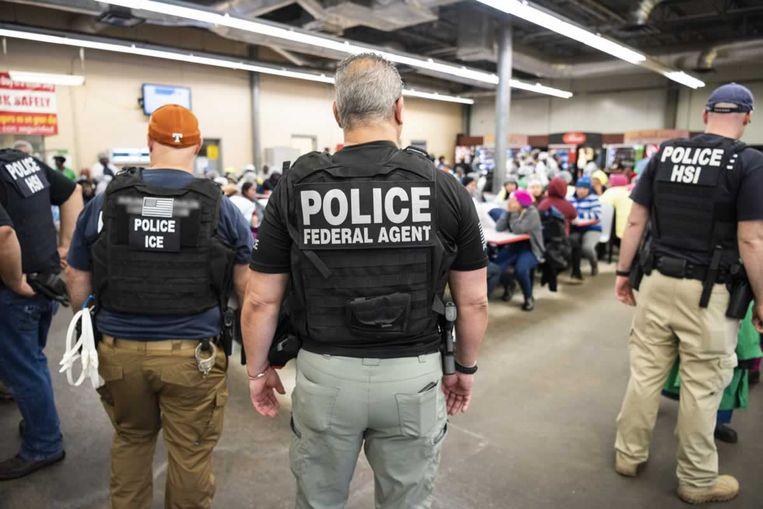 Een van de acties waarbij in totaal 680 mensen werden gearresteerd. Beeld Ho/AFP