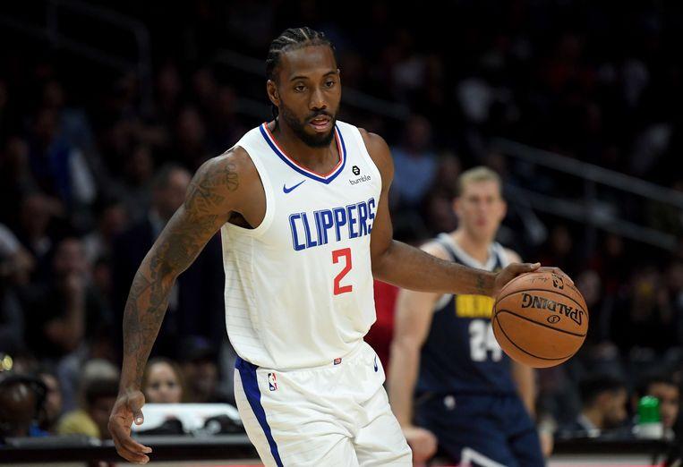 Kawhi Leonard, nu in het shirt van de LA Clippers.