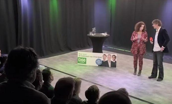 Minister Ingrid van Engelshoven in Studio Balengebouw van 1Twente en Pakhuis Oost