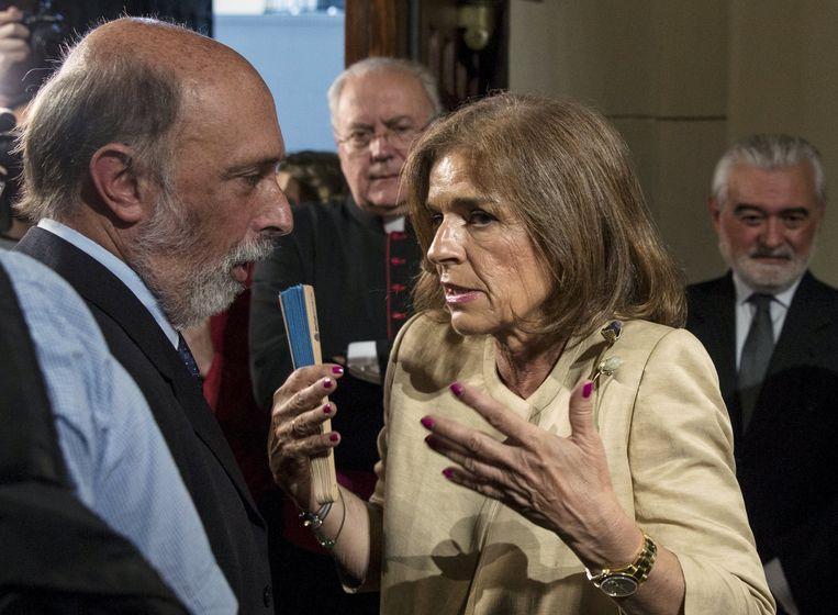 De burgemeester van Madrid, Ana Botella.