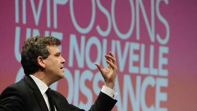 De Franse minister van Economie, Arnaud Montebourg.