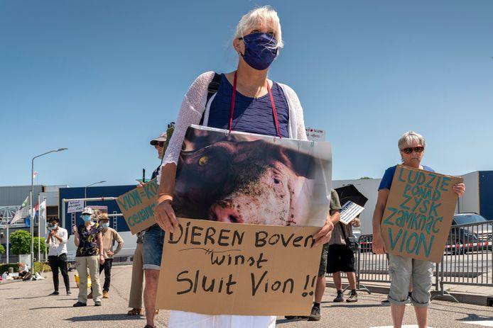 Protest bij Vion in Boxtel.