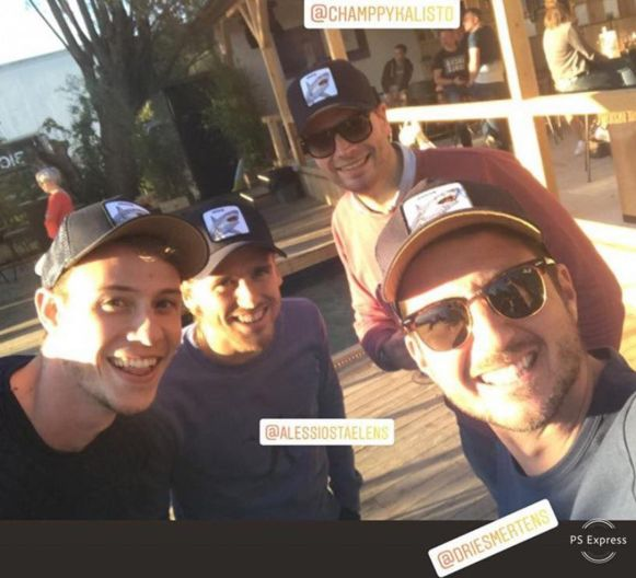 De foto in Azuro met (vlnr) Sam Deroo, Alessio Staelens, Christophe Compernolle en Kevin Polfliet.