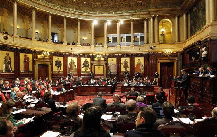 De Belgische Senaat waar de hoorzitting plaatsvindt. Beeld anp