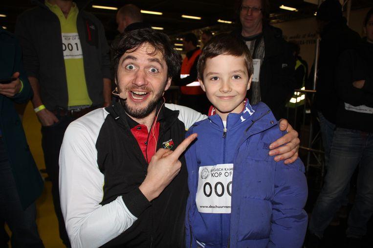 Jente Steenhoudt was met zijn 8 jaar een van de jongste deelnemers.
