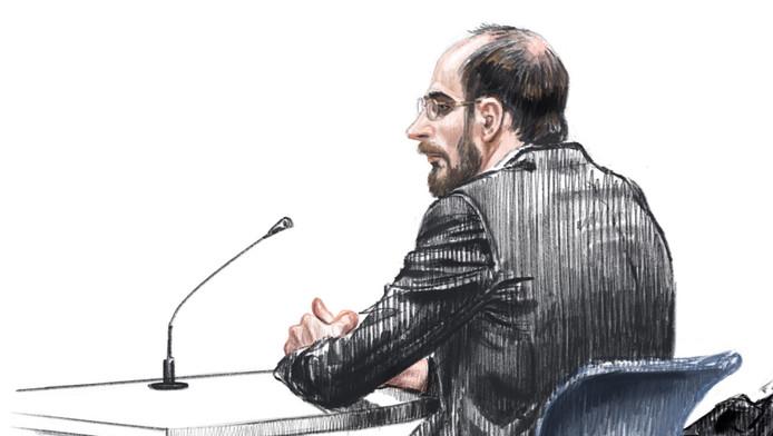 Bart van U. in de rechtbank.