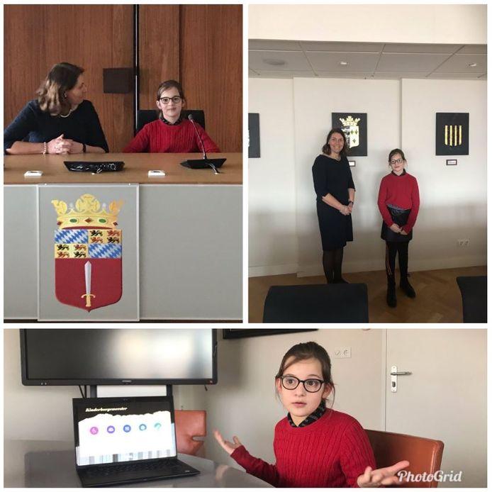 José van Egmond maakte in maart een collage van haar ontmoeting met 'adviseur kinderburgemeester' Maria Trigt.