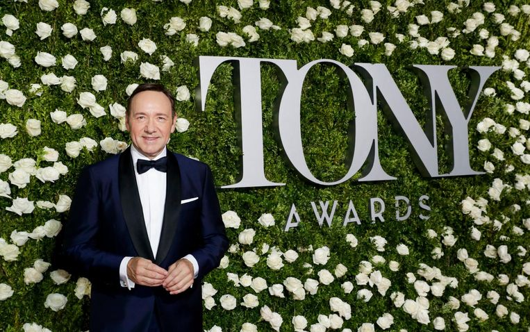 Kevin Spacey presenteerde de Tony Awards. Beeld EPA