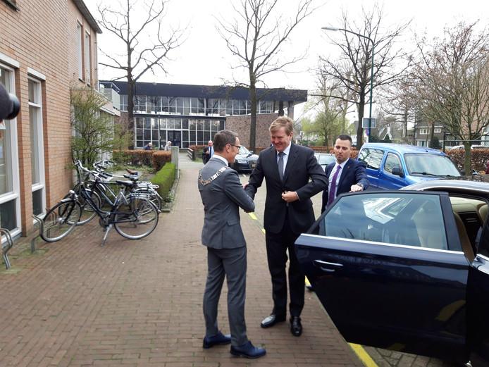 De koning wordt ontvangen in Lieshout