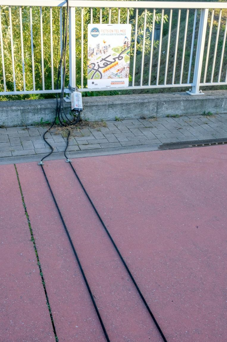 Het fietstelpunt in Machelen.