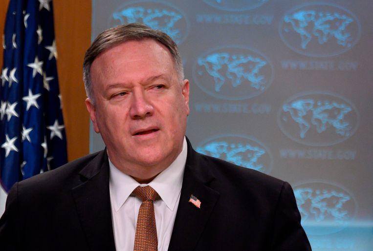 Amerikaanse minister van Buitenlandse Zaken Mike Pompeo