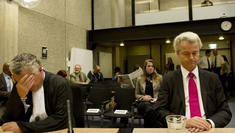 teeds meer organisaties willen een tegengeluid laten horen bij de pro-Wildersbetoging, waarvoor de extreem rechtse English Defence League (EDL) een vergunning heeft aangevraagd. Op de foto Wilders tijdens het haatzaaiproces. Foto ANP Beeld
