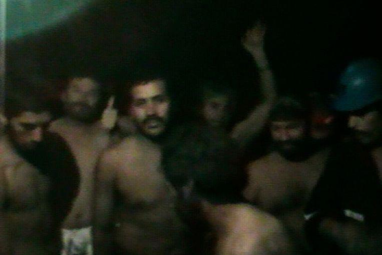 De ingesloten Chileense mijnwerkers (Reuters) Beeld REUTERS