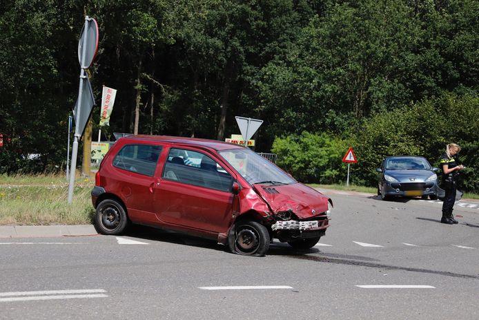 Ongeluk op kruising in Haps.