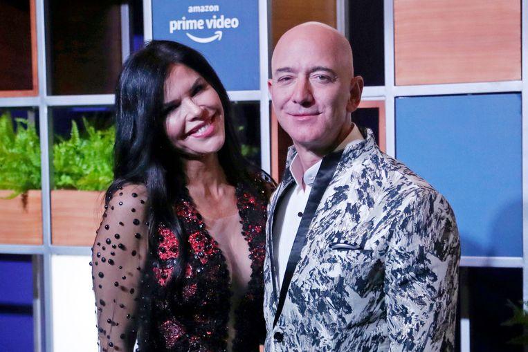 Amazon-baas Jeff Bezos met zijn vriendin.