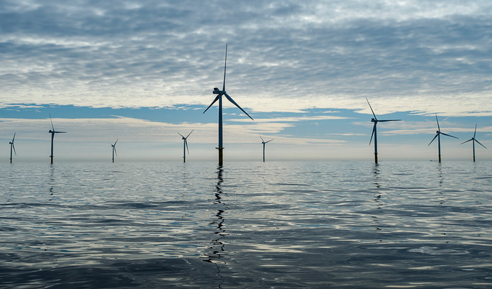Windmolens voor de Nederlandse kust. ANP/Remko de Waal