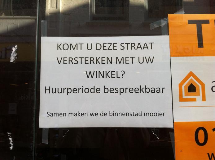 Archieffoto: lege winkel in hartje Vlissingen.