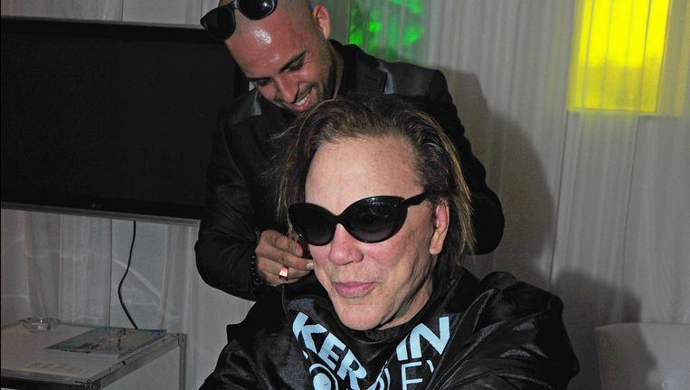 Mickey Rourke (voorgrond) Beeld Photo News