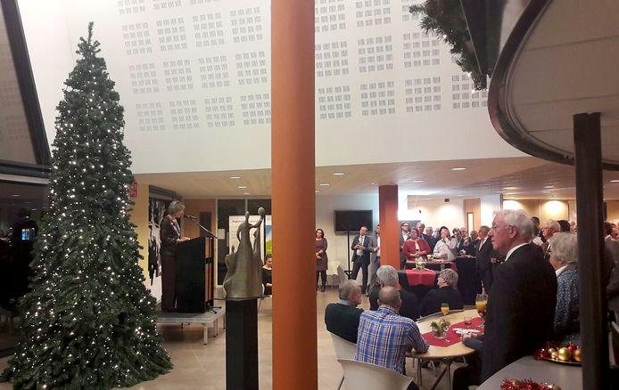 De nieuwjaarsreceptie van gemeente Halderberge in het gemeentehuis van Oudenbosch. Foto Wim van den Broek.