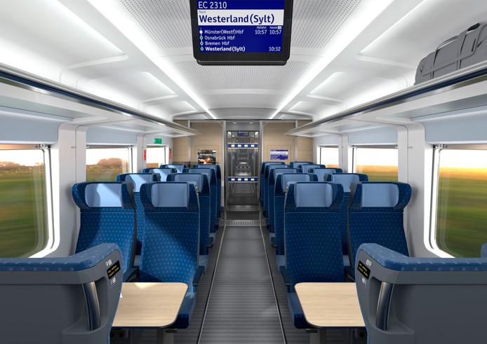 De tweede klasse in de nieuwe trein