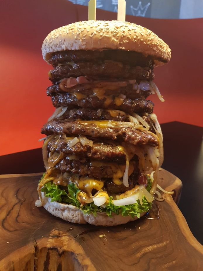Hamburger met negen hamburgers Burgers van Barneveld