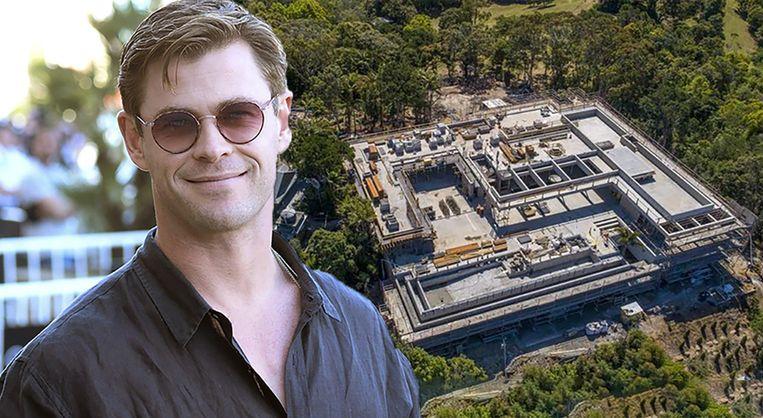Chris Hemsworth walgt van eigen rijkdom, maar bouwt wél grootste villa ooit gezien.
