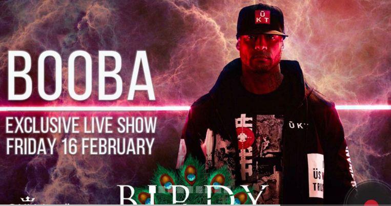 Rapper Booba treedt vrijdag op in zaal Birdy.